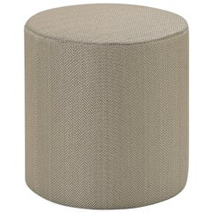 MissoniHome Ribe Tall Cylinder Pouf in Solid Tan