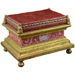 Pedestal, Polychromed and Gilded Wood, 17th Century