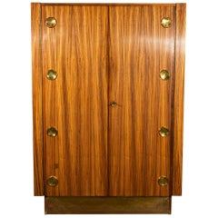 Cabinet, Key Wood and Gilt Brass, Signed, circa 1974, Hungary