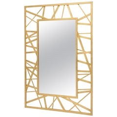 Doheny Rectangular Mirror in Gold Leaf by Badgley Mischka Home