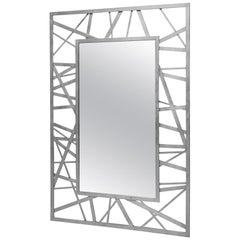 Doheny Rectangular Mirror in Silver Leaf by Badgley Mischka Home