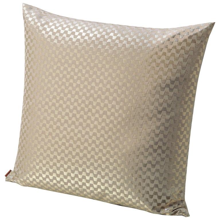 MissoniHome Lok Cushion with Greek Key Print in Gold