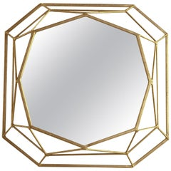 Mulholland Mirror in Gold Leaf by Badgley Mischka Home