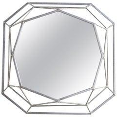 Mulholland Mirror in Silver Leaf by Badgley Mischka Home