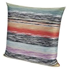 MissoniHome Strasburgo Cushion in Multi-Color Flame Stitch Print
