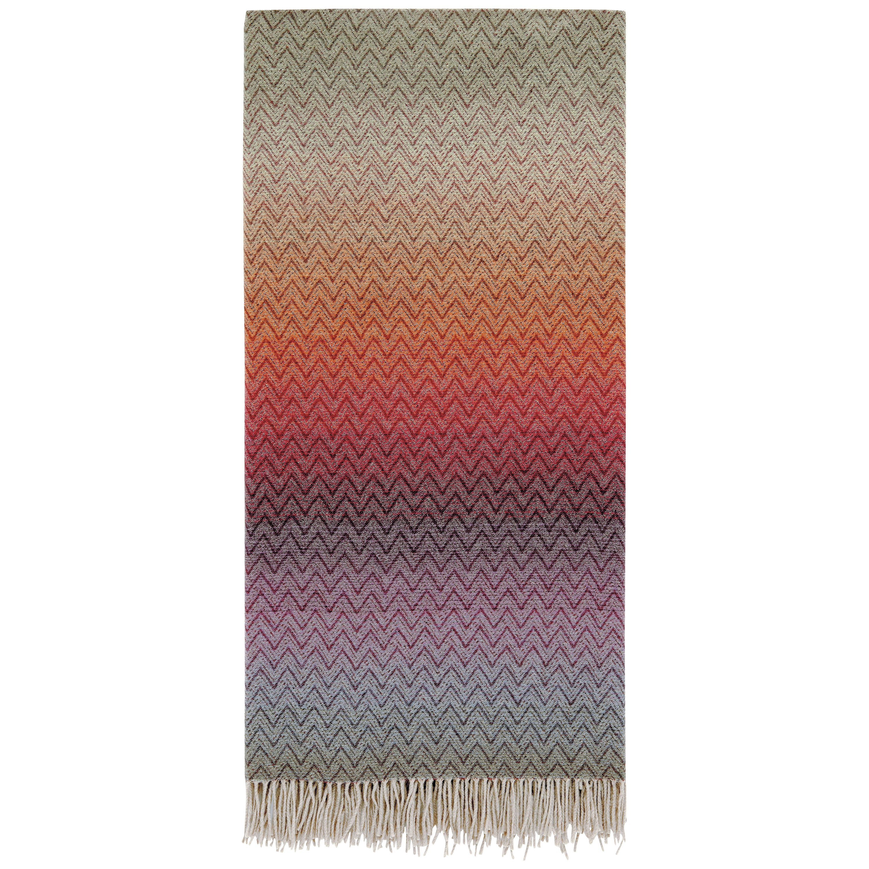 Missoni Home Pascal Throw in Multicolor Chevron Pattern
