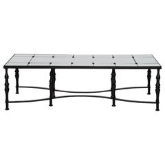 Astaire Coffee Table in Ebony and Glass by Badgley Mischka Home