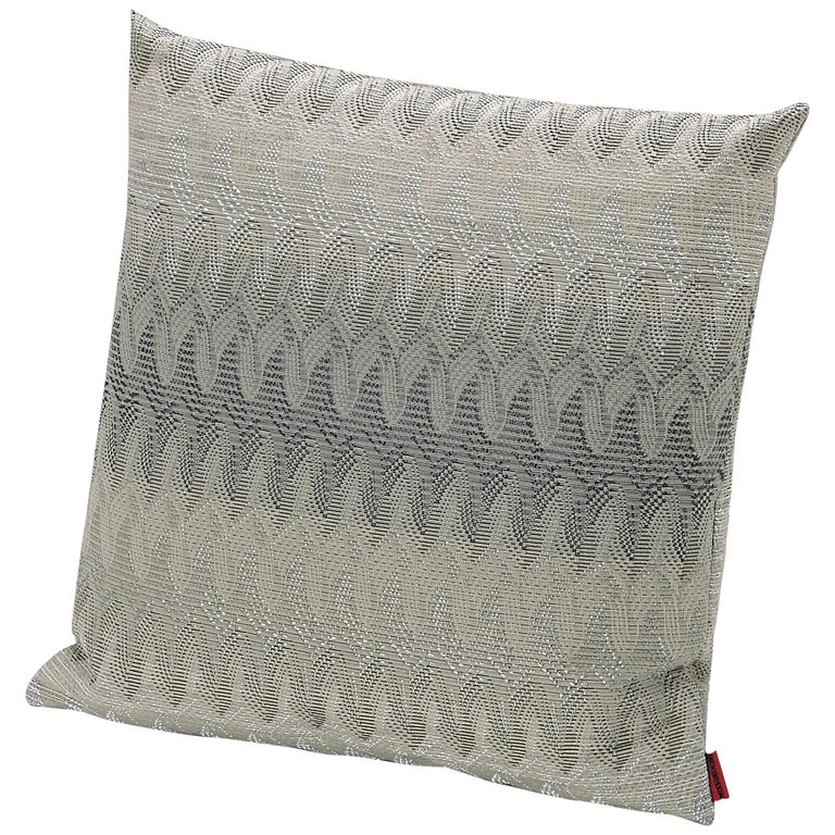 MissoniHome Remich Cushion in Lace-Inspired Gray Print For Sale