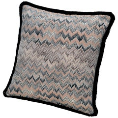 MissoniHome Thailand Cushion with Pink and Blue Wave Pattern