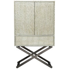 Mulholland Dresser in Antique Silver and Natural Metal by Badgley Mischka Home