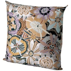MissoniHome Kandahar Cushion in Multicolor and Gold Floral Print