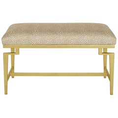 Catalina Vanity Bench with Gold Leaf Detail by Badgley Mischka Home