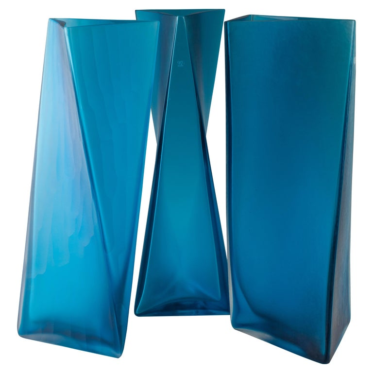 Tadao Ando for Venini. Set of 3 Different Vases.
