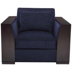 Bel Air Armchair in Ebony & Stone by Badgley Mischka Home