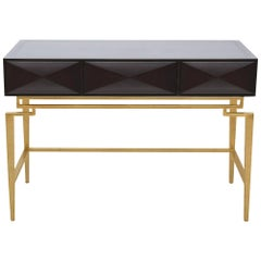 Catalina Vanity in Chocolate and Gold by Badgley Mischka Home