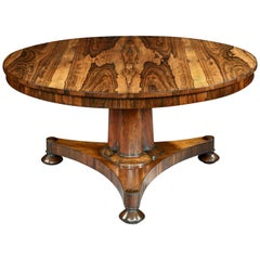 19th Century William IV Rosewood Centre Table by Johnstone Jupe & Co