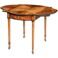 18th Century George III Amboyna Pembroke Table Attributed to Henry Hill