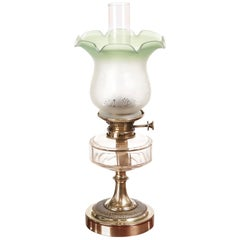 Antique Victorian Brass Oil Lamp