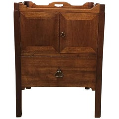 Mahogany George III Period Tray Top Nightstand