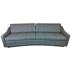 Mid-Century Modern Harvey Probber Newly Upholstered Lit Lucite Base Sofa