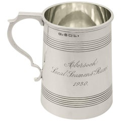 Antique George V English Sterling Silver Pint Mug