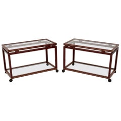 Pair of 1970s Vintage French Side Tables by Pierre Vandel, Paris