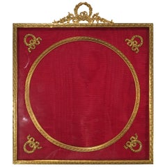 Large Late Victorian Gilt Bronze Photograph Frame