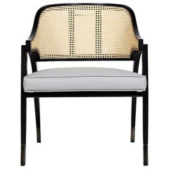 Wilton Vintage Chair in Woven Rattan and Solid Wood