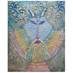 Pastel Painting of Carpathian Ancestor by Romanian Artist Noche Crist