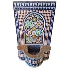 Marble Border Moroccan Multi-Color Tile Fountain