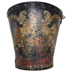 Rare Georgian Leather Royal Fire Bucket