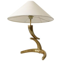 Exceptional and Elegant Mid-Century Modern Brass Table Lamp, 1970s