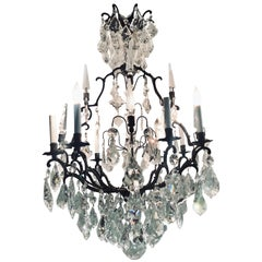 Versailles Chandelier with Swarovski Strass and Crystal Pendants