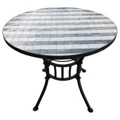 Black or White Moroccan Mosaic Table, Choose Your Base