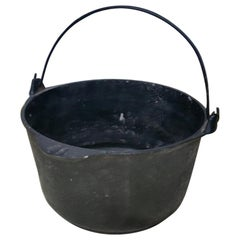 Black Cast Iron Pot with Handle