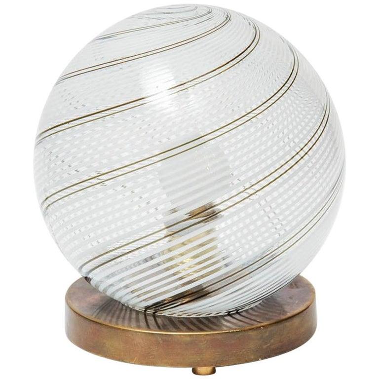 Small Globe Venini Table Lamp