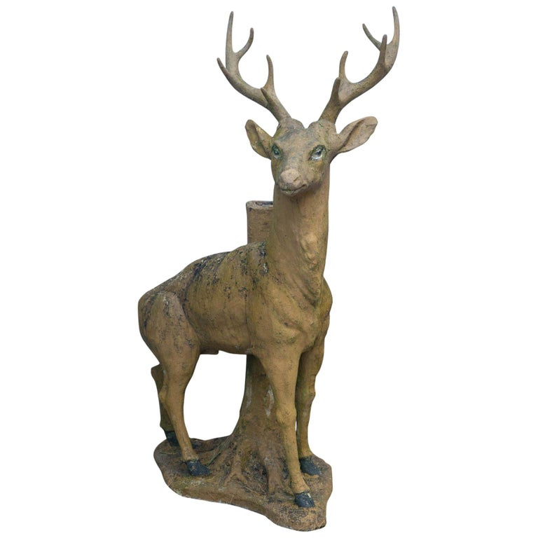 Composed Stone Stag For Sale