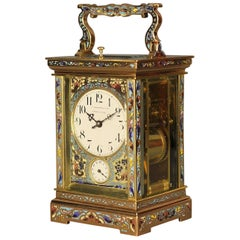 Champleve Grande Sonnierre Repeat Carriage Clock