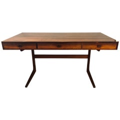 Georg Petersens Danish Modern Rosewood Cantilever Writing Desk