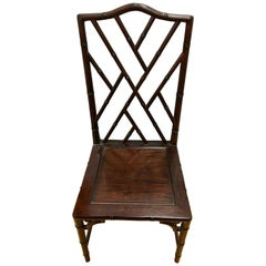 Set of Ten Midcentury Matching Mahogany Chinese Chippendale Dining Room Chairs