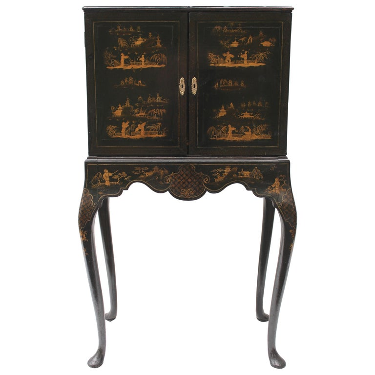 19th Century Chinoiserie Cabinet on Stand