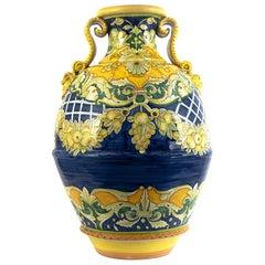 Massive Hand Painted Italian Vase/Urn