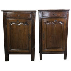 Pair of 19th Century French Provincial Style Walnut Cabinets