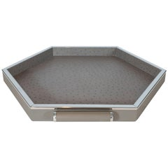 Leather Hexagonal Tray Small
