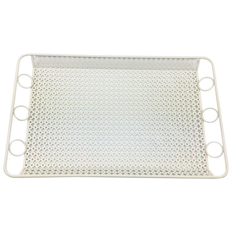 Manner of Mathieu Mategot Perforated Metal Barware Serving Tray