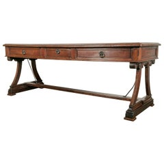 Early 19th Century Solid Oak French Provencal Writing Table or Console