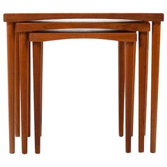 Midcentury Danish Nesting Tables in Teak