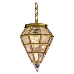 Rock Crystal Chandelier, Moden Lantern Diamond Model by Alexandre Vossion