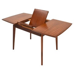 Small Extractable Teak Dining Table by Louis van Teeffelen, Netherlands, 1960