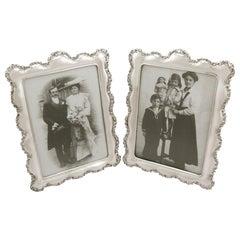 Antique Edwardian Sterling Silver Photograph Frames